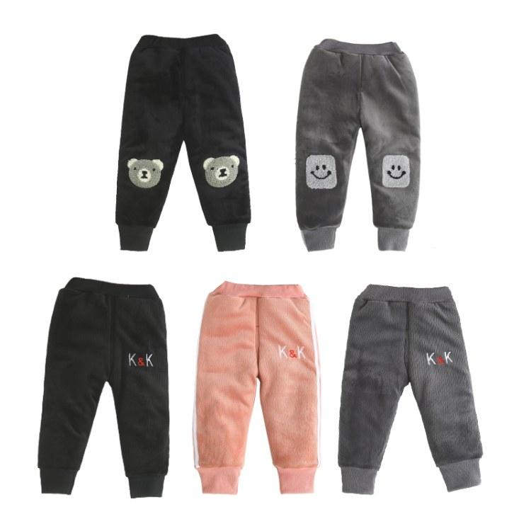 0-4岁宝宝棉裤加厚运动裤男女儿童冬季保暖裤小童长裤外穿可开档一件代发源头工厂