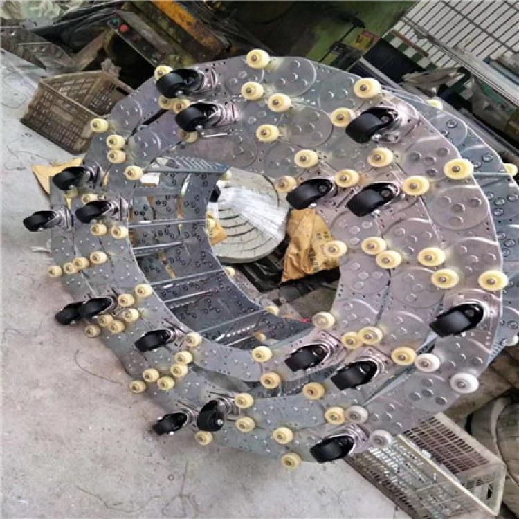 盐山县顺达厂家直销钢铝拖链 工程尼龙拖链 塑料拖链