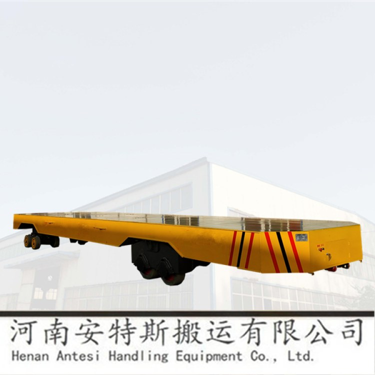 河南安特斯厂家直销1-5吨熔铝炉加料专用电动平车横纵移动轨道车电动牵引车