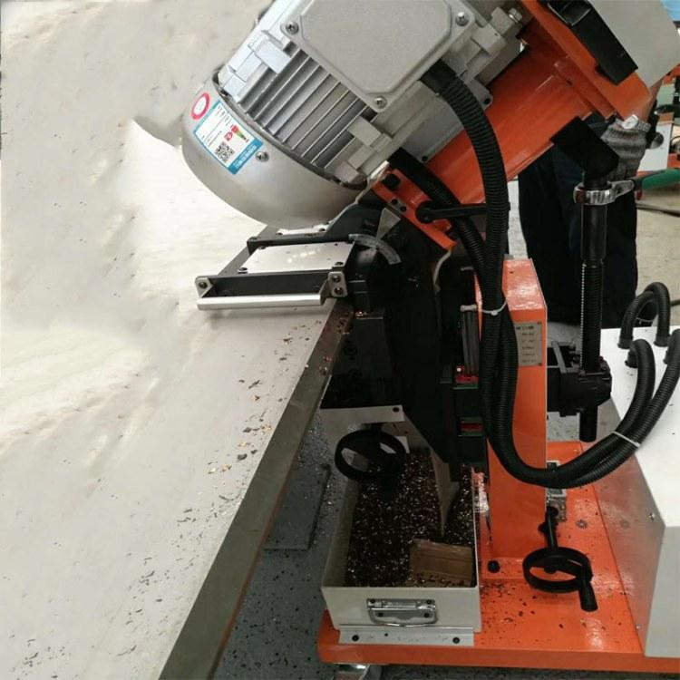 全自动钢板坡口机 自行走钢板铣边机 单电机板材倒角机 森泰