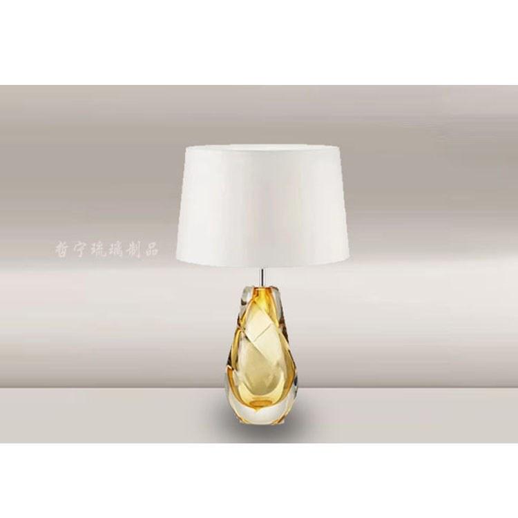 现代美式简约 客厅卧室琉璃台灯 琉璃工厂直销