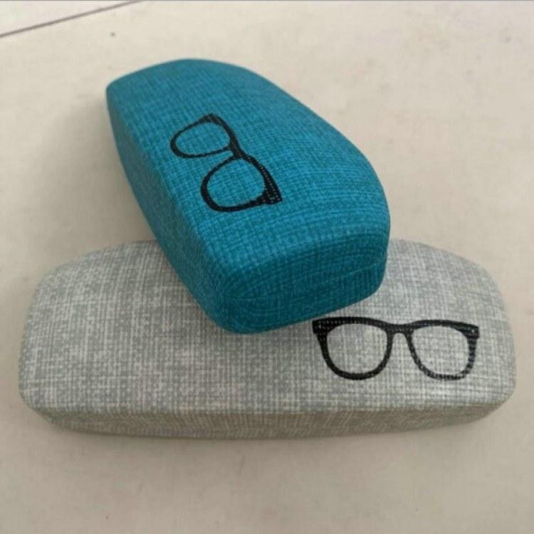 【方飞】折叠型金属眼镜盒 文艺青年简约图案近视眼镜铁盒定制批发