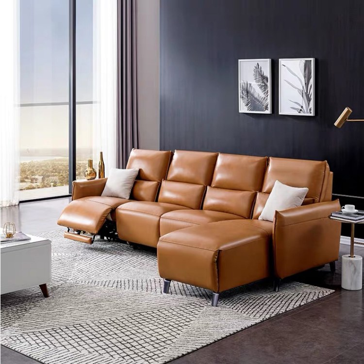广州客厅功现代转角真皮沙发定制  厂家直销 新品推荐家用头等舱客厅功能沙发