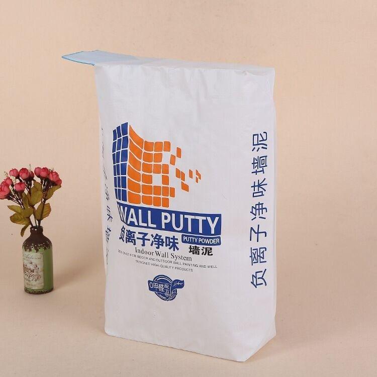 一迪 三纸一膜方底牛皮纸阀口袋 防水20kg瓷砖胶阀口袋
