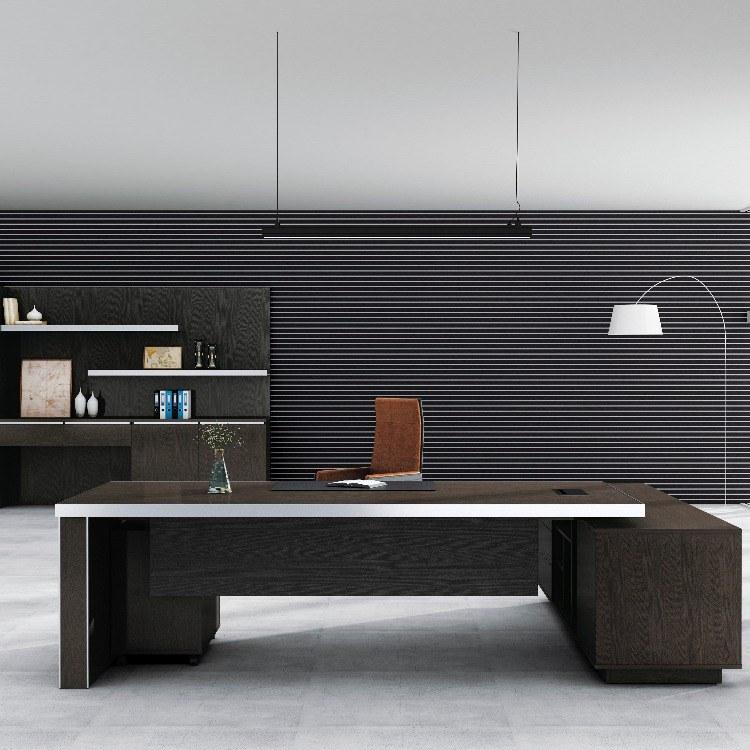 办公桌 老板桌 款式定制 多种风格 厂家直销 广州林宇家具