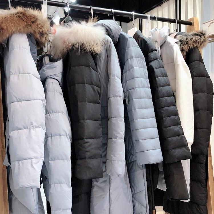 【法娜卡伦】19年冬季大码女式羽绒服 品牌折扣女装货源批发