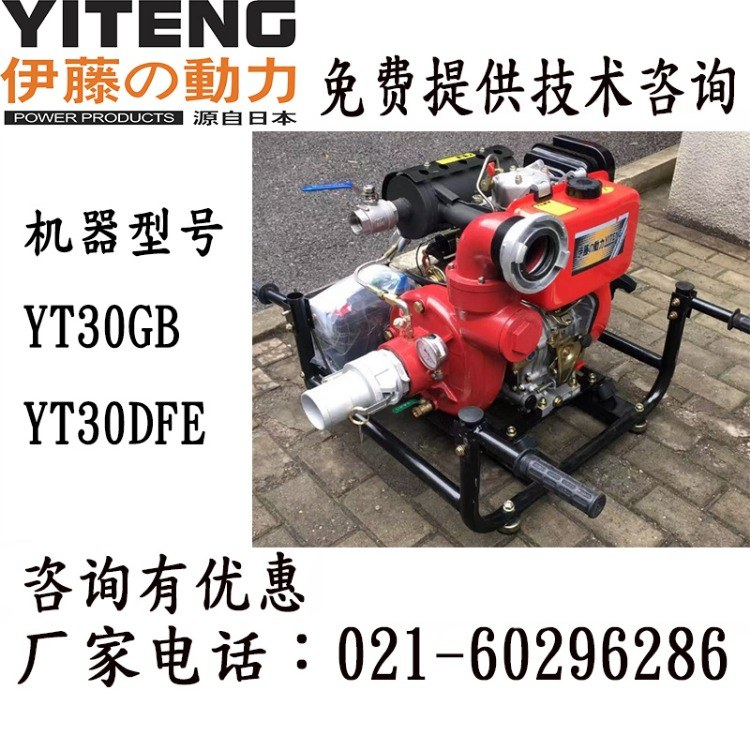 13匹马力汽油机消防水泵