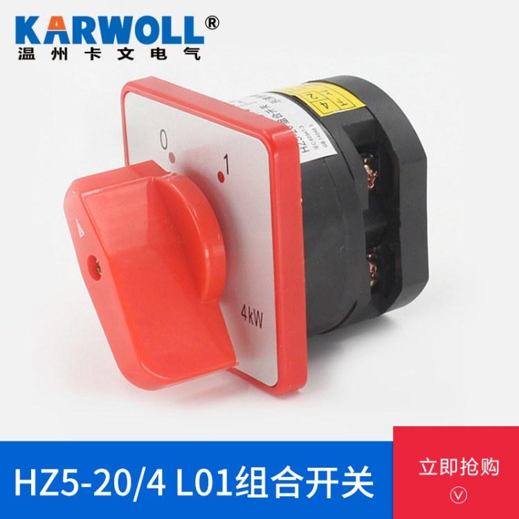 万能转换开关 组合开关HZ5D-20/4 L01万能转换开关 饺肉机专用