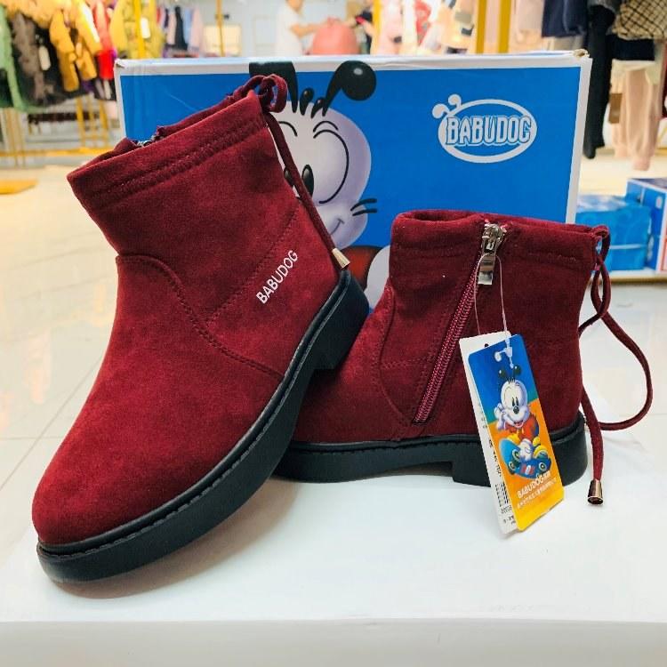 高端品牌[巴布豆]冬款童鞋品牌折扣童鞋童装一手货源分份批发