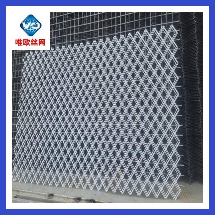 菱形钢丝网片斜孔铁丝网唯欧丝网专业生产3-6cm网孔