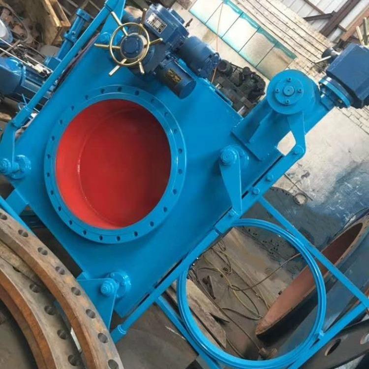 轩诚阀门厂专业生产  电液动通风蝶阀  F43CX手动扇形盲板阀