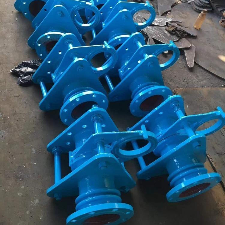 轩诚阀门厂专业生产  电动封闭式插板阀  Z741Y液动废气阀