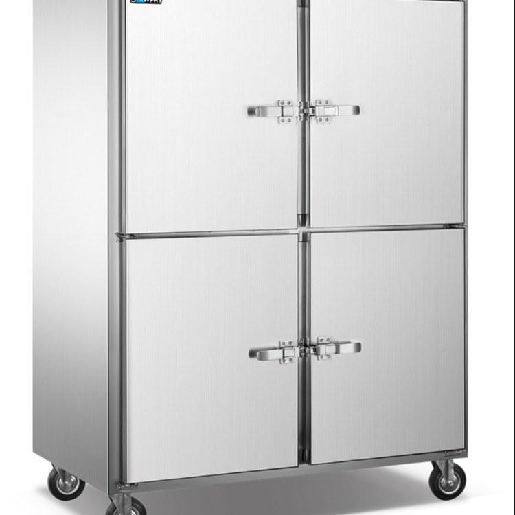 加厚不锈钢碗柜厨房柜铝合金冷藏柜柜