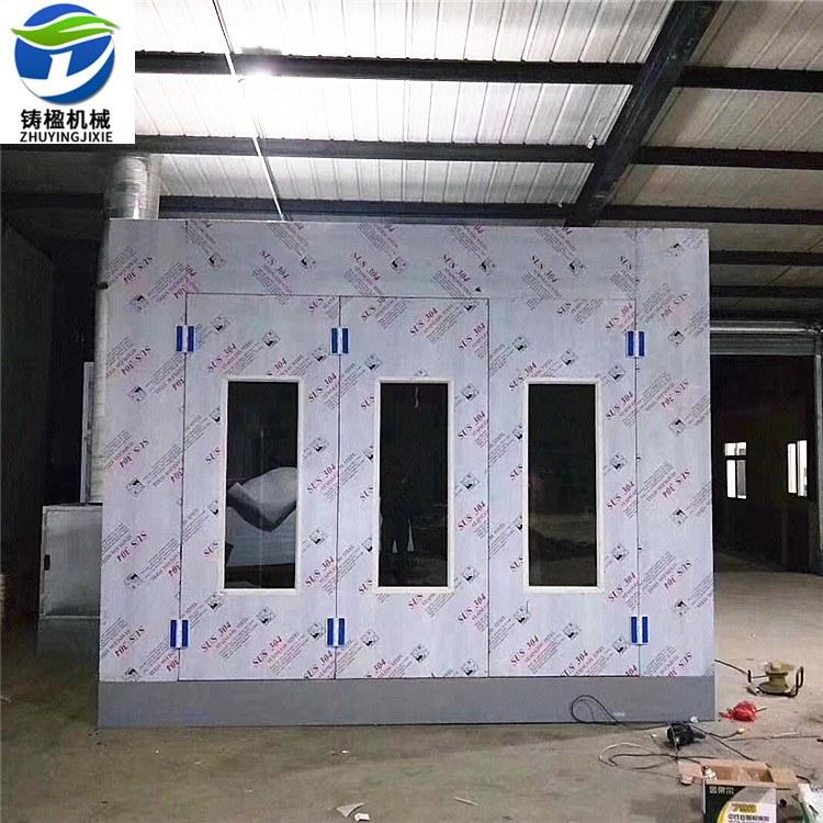 铸楹厂家定制喷漆房环保设备 高温房 移动伸缩式喷漆房  汽车烤漆房