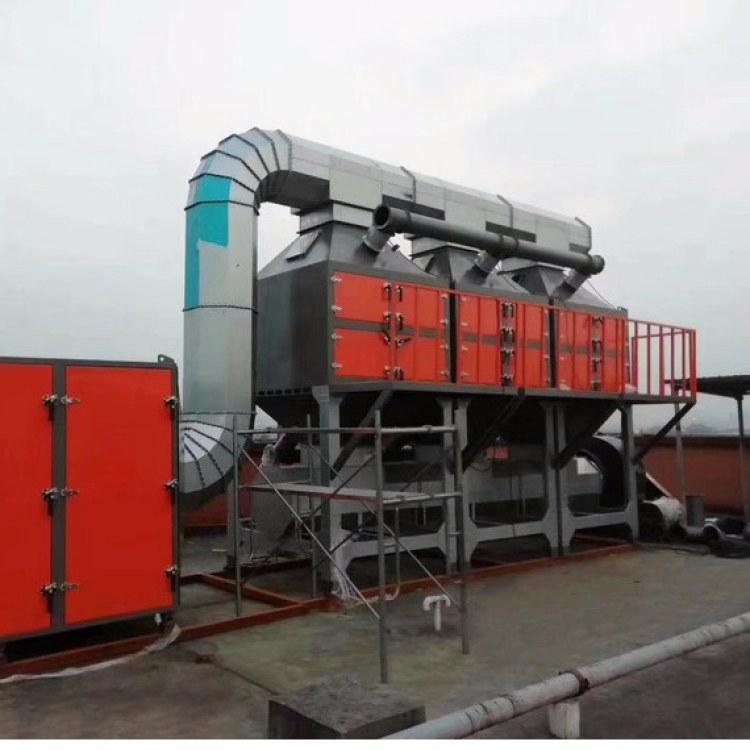 活性炭吸附催化燃烧设备 活性炭吸附浓缩催化燃烧装置 vocs废气处理