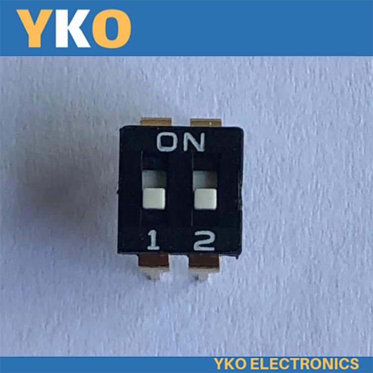 厂家供应IC型YKO拨码直插2P高拨键开关 正品直销