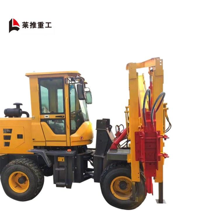 山东厂家高速公路打桩机  液压钻孔机  装载式带空压机护栏打桩机