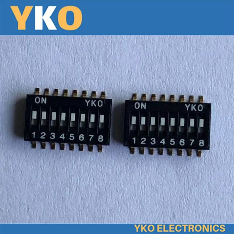 供应YKO拨码开关现货 IC型半间距1.27mm-8P-E型 深圳厂家批发