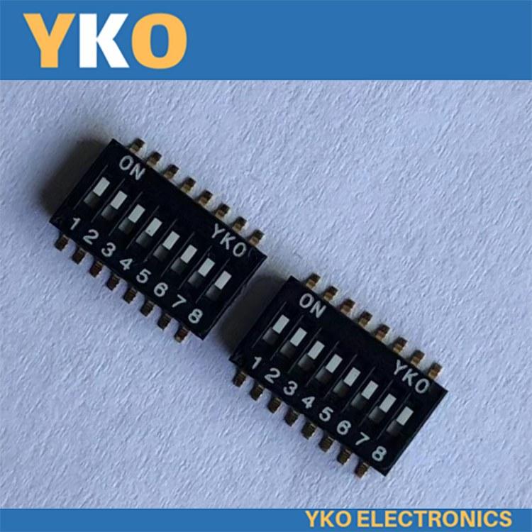 深圳供应YKO拨码开关现货 IC型半间距1.27mm-8P-E型 深圳厂家批发品质保证