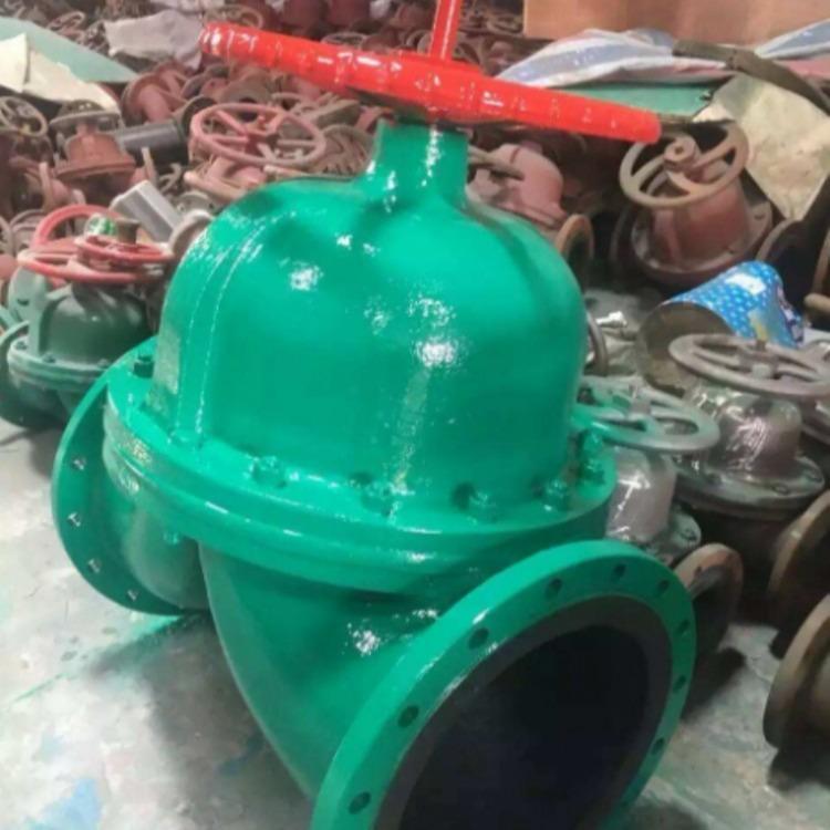 轩诚阀门厂专业生产  隔膜阀厂家  G45F46直流式衬氟隔膜阀