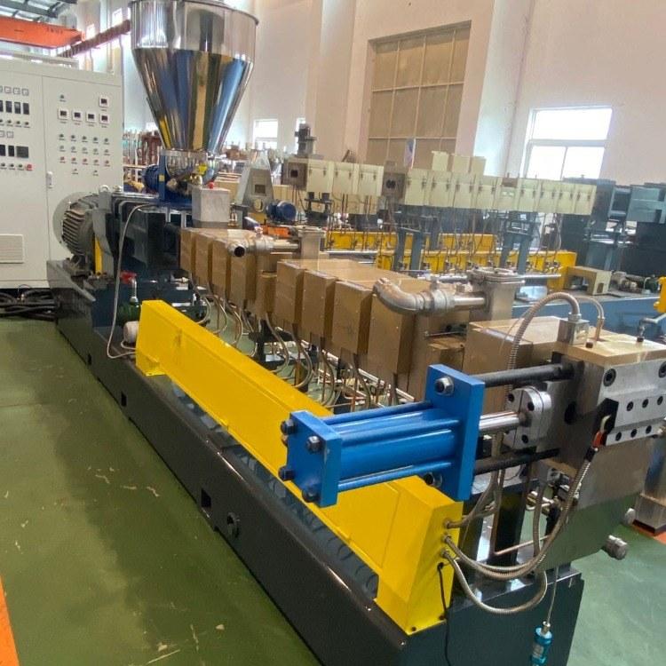 南京棉亚 LTS-95积木式同向平行三螺杆造粒机 PVDF氟色母造粒机