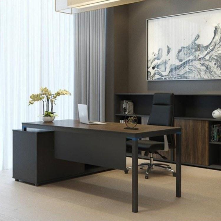 经理桌简约现代老板桌板式电脑桌办公家具厂家直销碧江家具