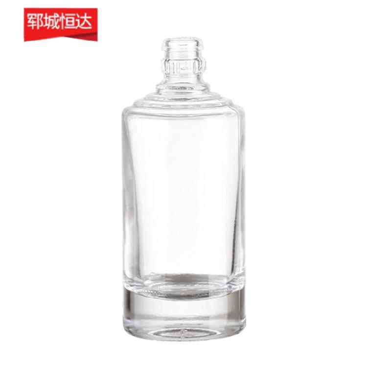 批发恒达玻璃 晶白料玻璃酒瓶 玻璃装饰 可印logo