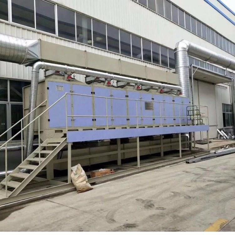 喷漆房废气处理设备 10000风量废气净化器催化燃烧设备锐驰朗制造