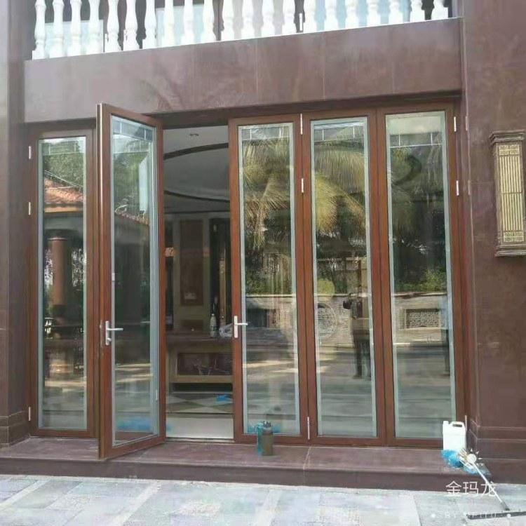 清远高端定制新款隐形合页防夹手铝合金折叠门 重型折叠门 封阳台