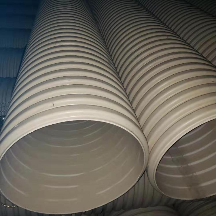 生产鲁潍PVC双壁波纹管 110排碱管 批发定制