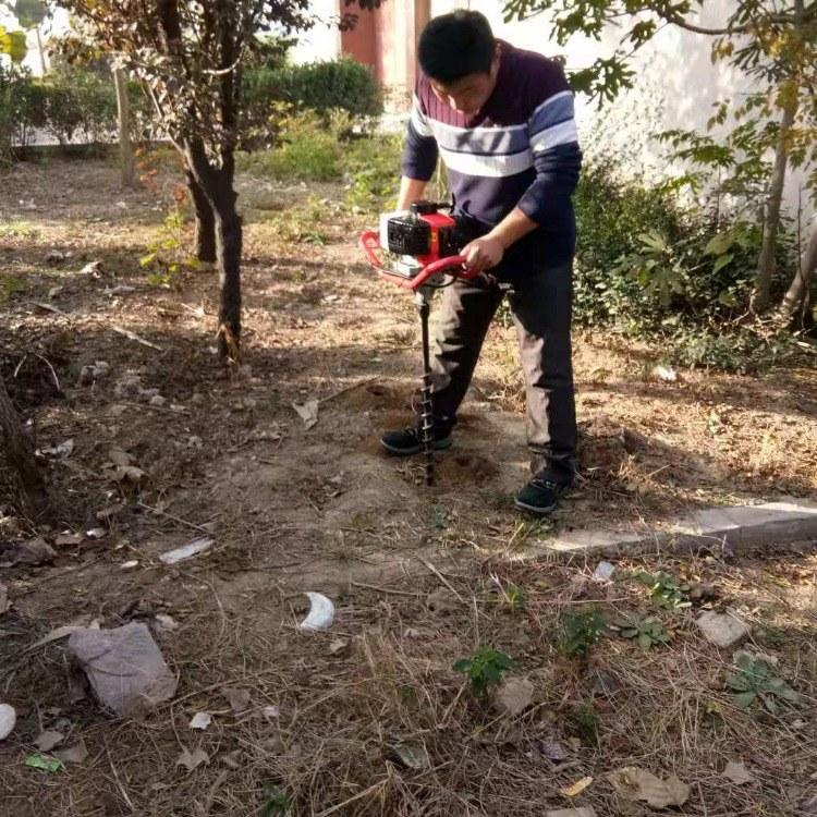 手提挖坑机 汽油螺旋刨坑机 定制挖坑机
