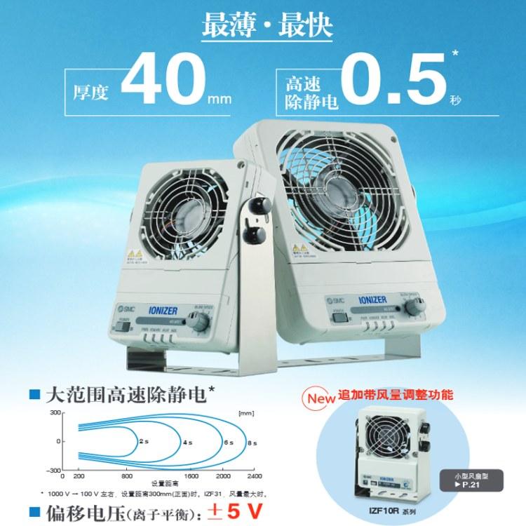 SMC风扇型静电消除设备 IZF10R 全新正品 可调节风量