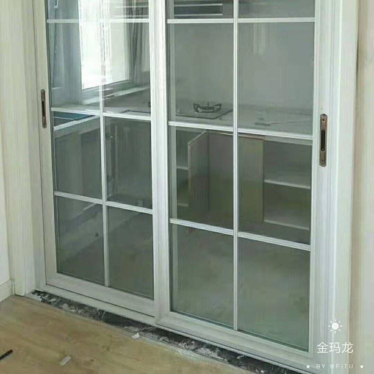 毕节铝合金重型推拉门 毕节阳台厨房客厅玻璃门 别墅入户门 金意享别墅门窗