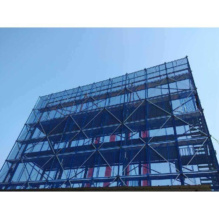 脚手架防护钢板网新型建筑爬架网高层外架新型防护网V字型爬架网