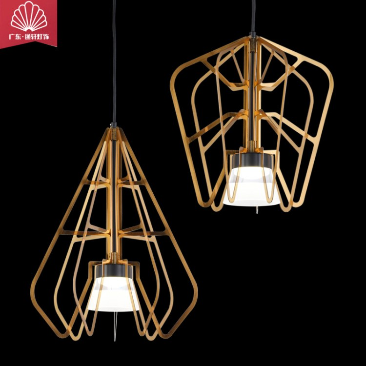 北欧轻奢大气艺术创意设计LED吊灯餐厅吧台咖啡厅卡座卧室床头吊灯