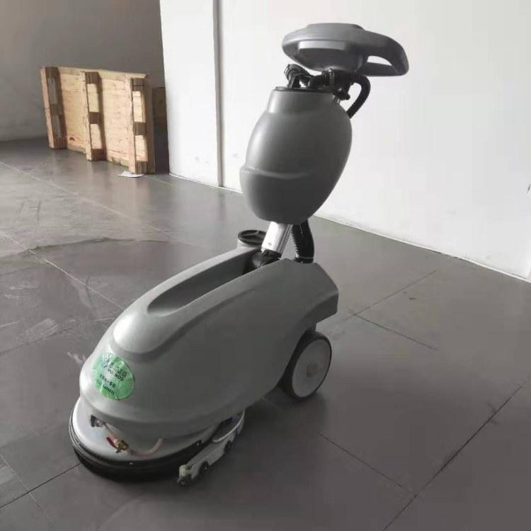 山东瑞立 小型折叠式洗地机 电瓶式手推式洗地机