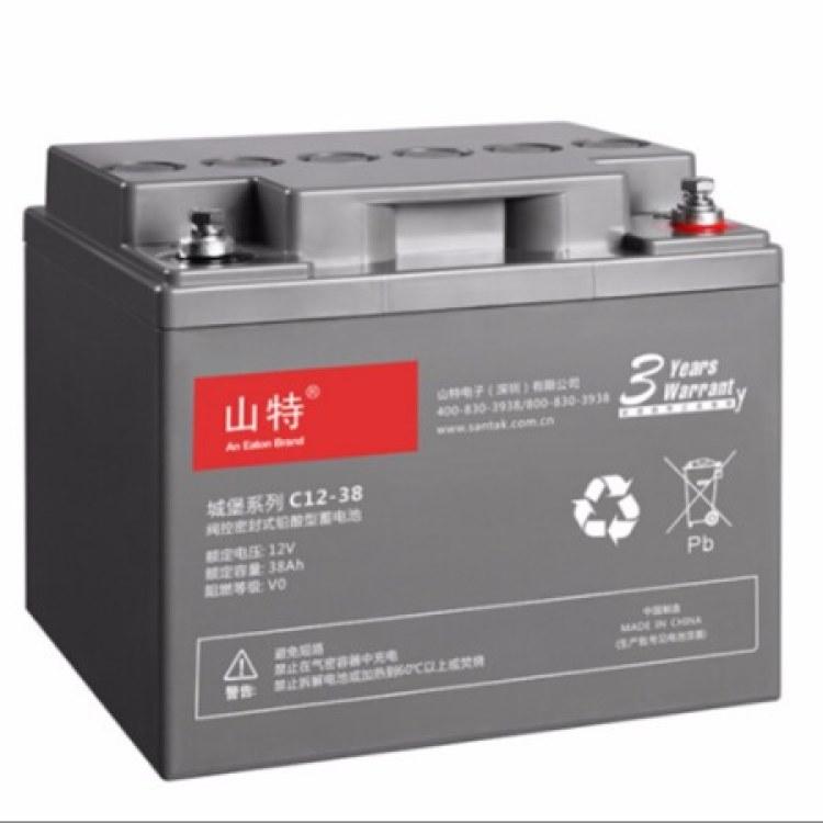 山特/SANTAK山特UPS电源电池铅酸蓄电池免维护12V40AH-C12-40AH