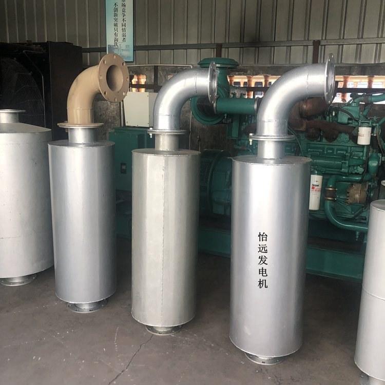 发电机组消音器定制 柴油发电机组一级二级消声器定制生产厂家
