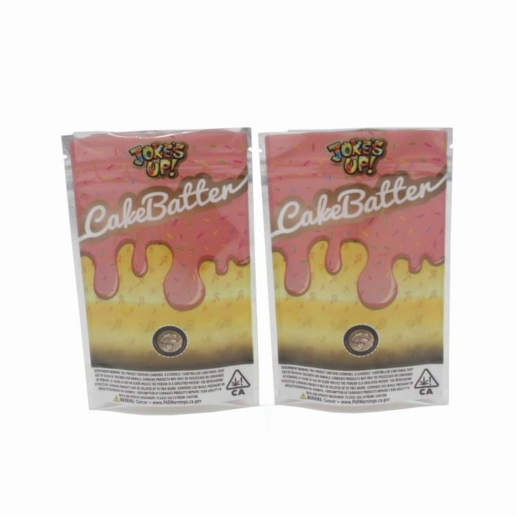 爆款runtz五款香草糖果阴阳袋 半镀铝雾化器自立袋 厂家直销 订制