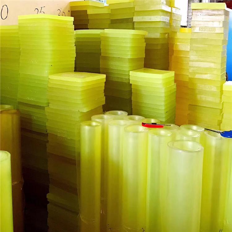 水绿色PU棒板 优力胶板棒 防震垫雕刻钻孔加工