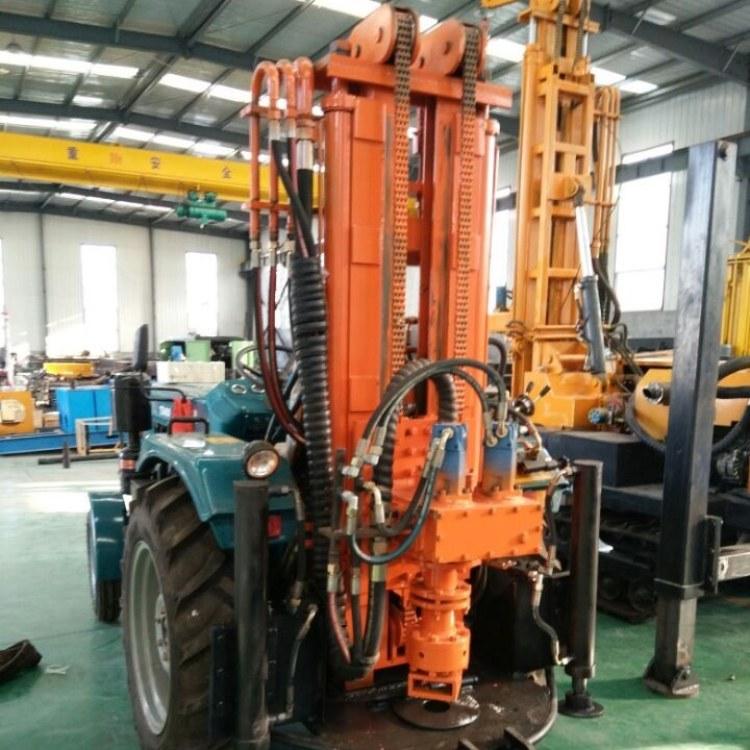 供应拖拉机式气动水井钻机 自行式气动水井钻机厂家
