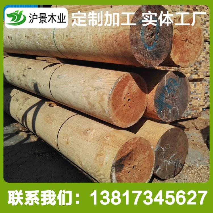 沪景供应花旗松木板枕木建筑木方工地樟子松木方木板花旗松碳化木板材工地木方