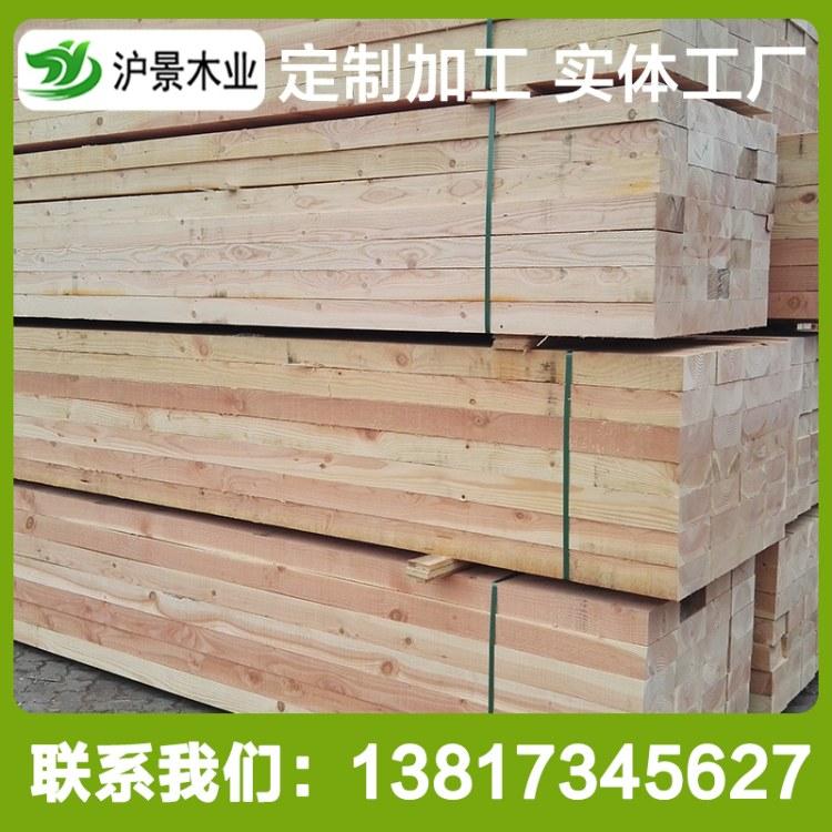 沪景厂家热销花旗松古建圆柱 防腐木碳化木 规格齐全 品质保证 支持定制