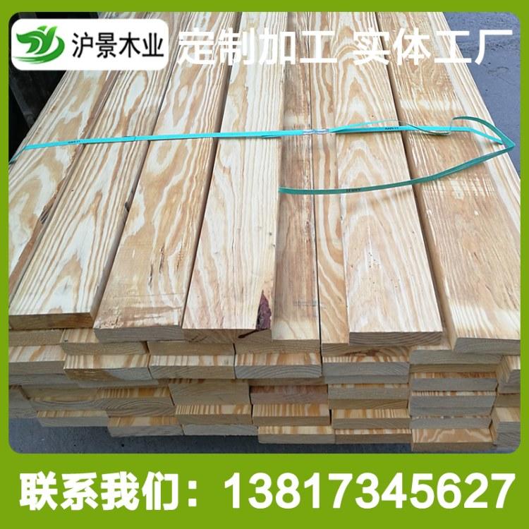 沪景热销美国南方松防腐木低价批发 南方松烘干板材花旗松碳化木