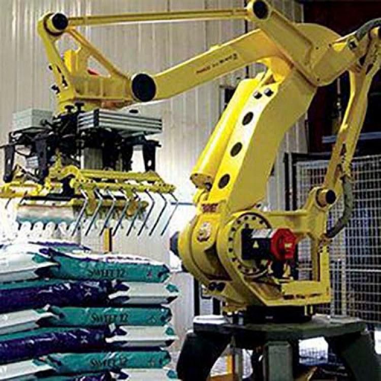 合肥流水线自动码垛机抓手高位码垛机器人