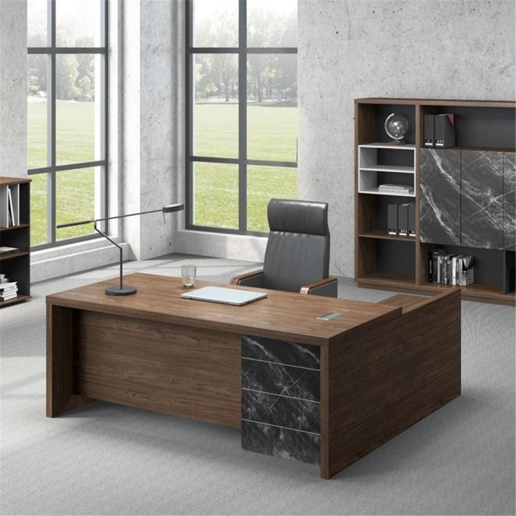 老板桌总裁办公桌椅大boss总经理单人办公室桌椅组合现代简约大气大班台