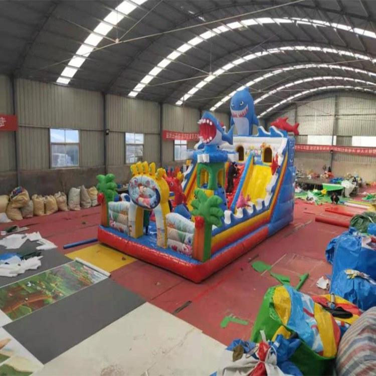 儿童娱乐健身充气滑梯游乐设备玩具生产厂家直销