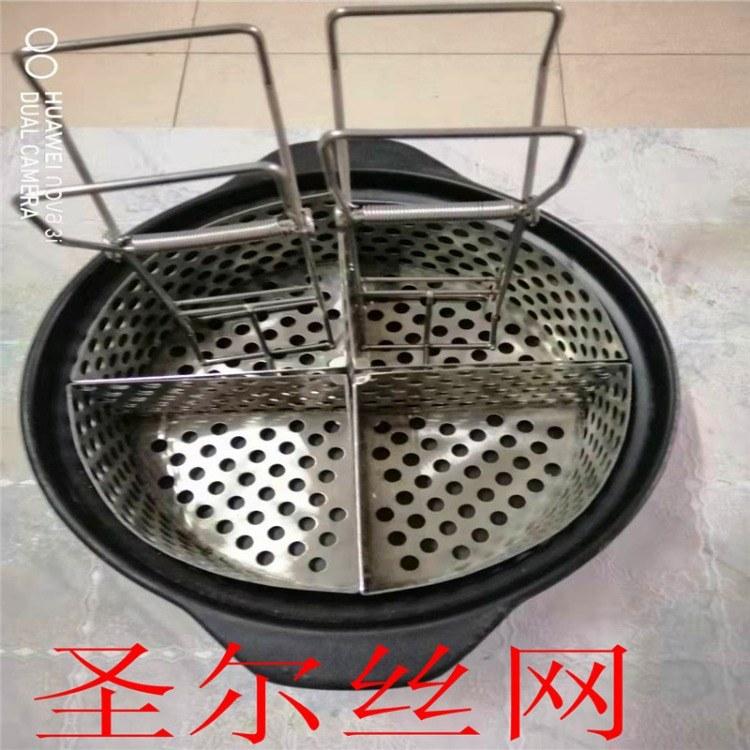 火锅米线分煮筐 油炸钢丝网筐水饺煮面桶专用三角框支持定做
