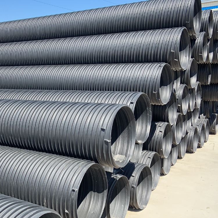 供应鲁潍塑钢缠绕排水管 聚乙烯塑钢缠绕管 厂家定做