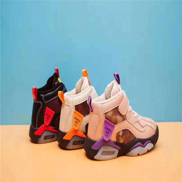 巴布豆二棉鞋 冬季保暖童鞋 一线品牌童装童鞋尾发基地批发走份 厂家一手货源